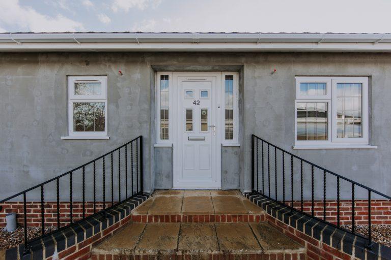 Black Box Park Home Refurbishments render drying