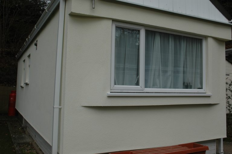 Mobile home external wall insulation
