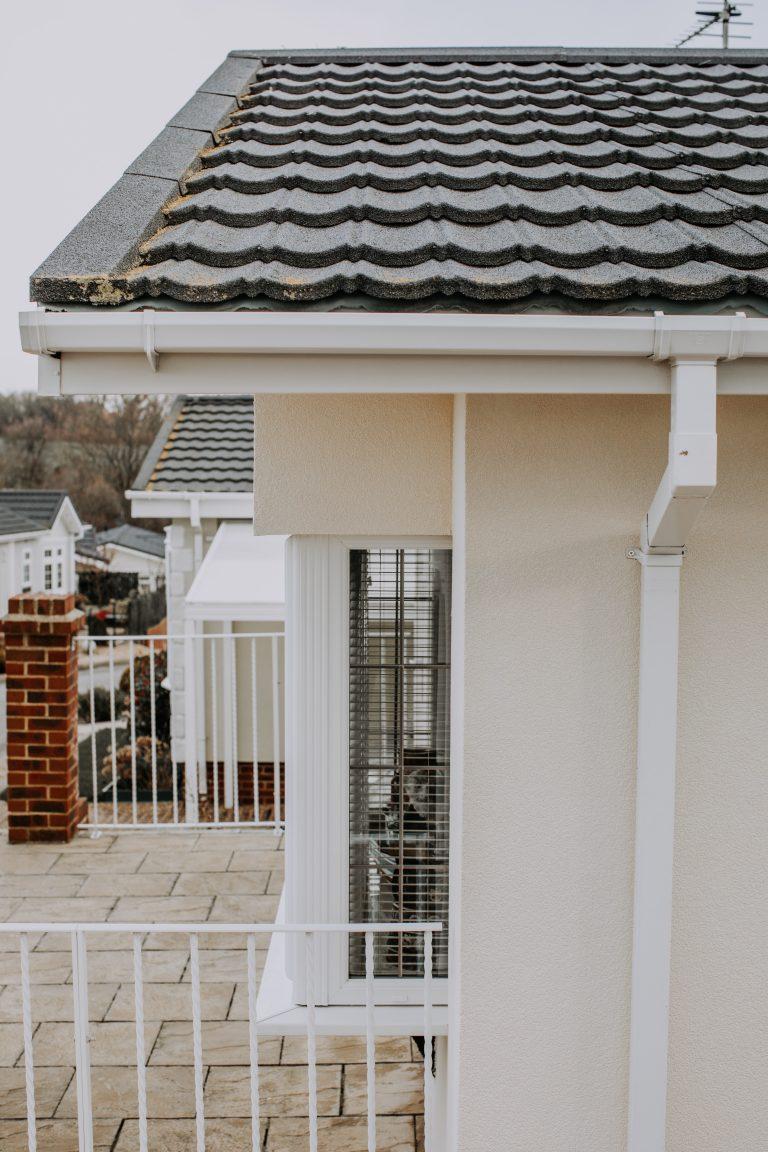 Park Home External wall insulation after