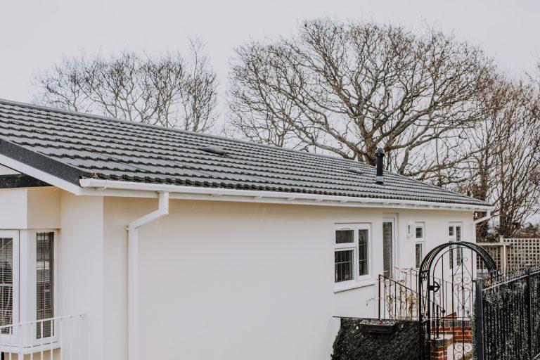 Park Home External wall insulation after rear