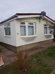 Static caravan wall insulation