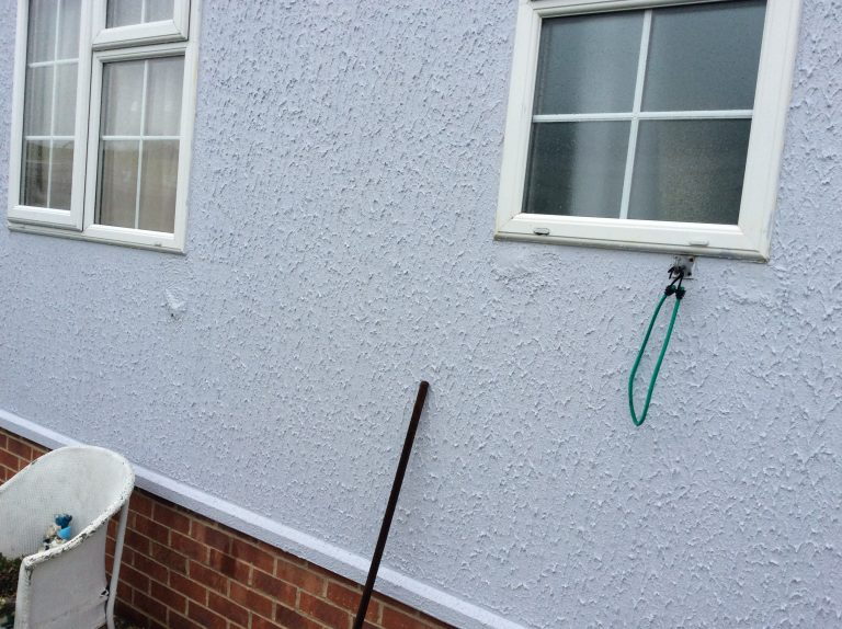Before external wall insulation