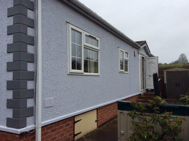 Before external wall insulation