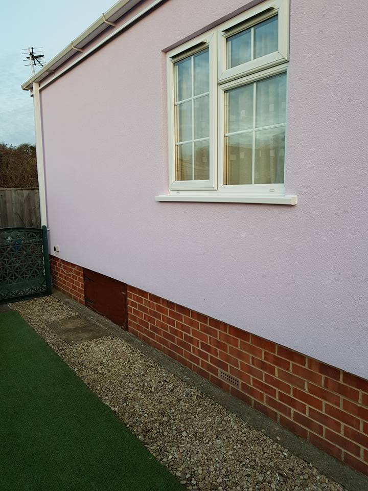 Lilac park home wall insulation