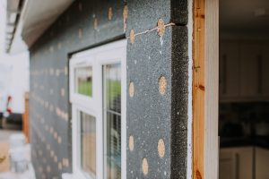 Park home insulation doubles walls thickness