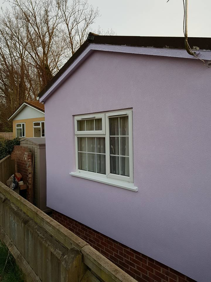 Pink External Wall Insulation