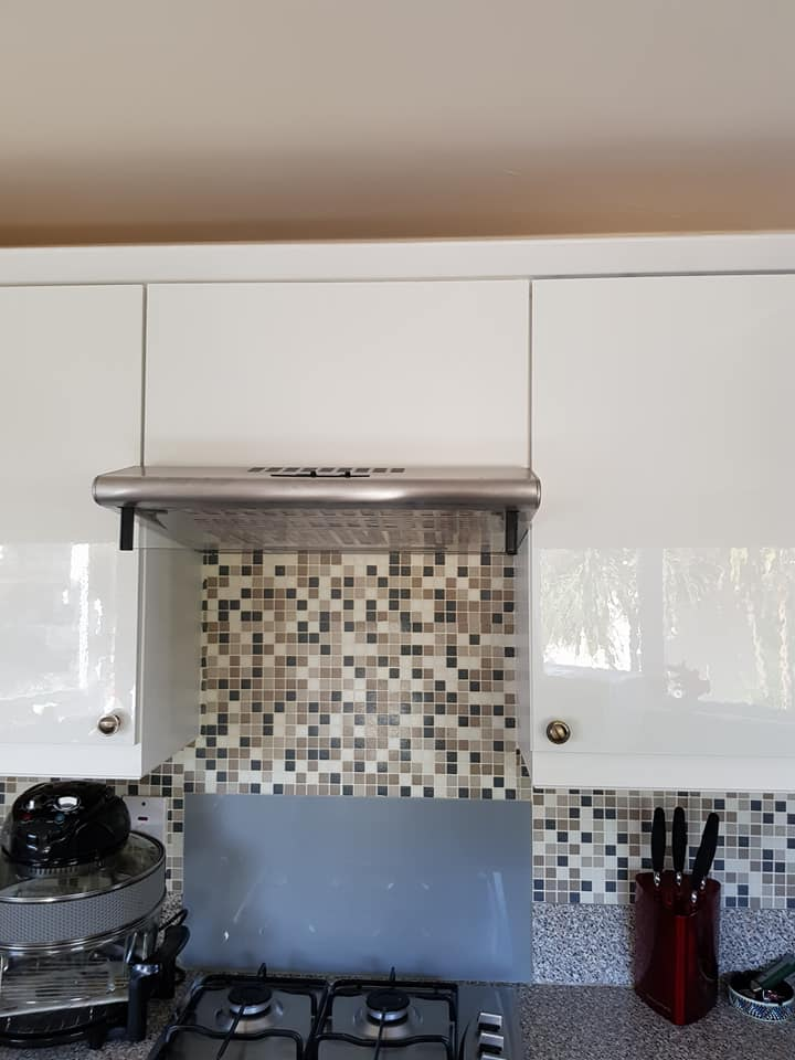 mobile home kitchen refurbishment after