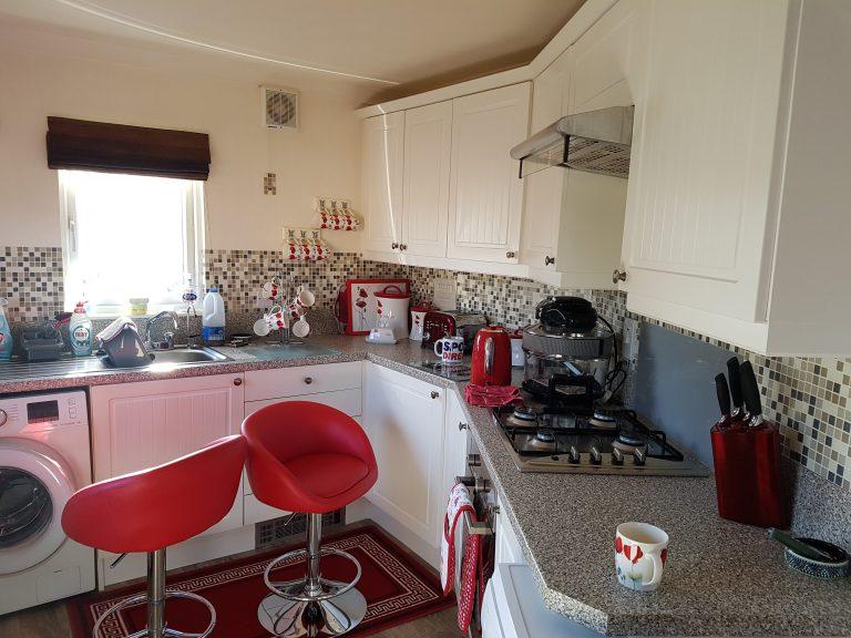 mobile home kitchen refurbishment before