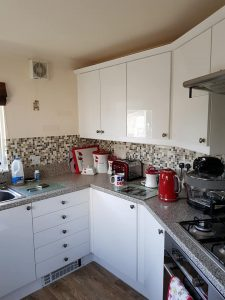 park home kitchen refurbishment after