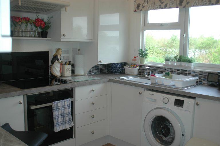Park home kitchen refurbishment after