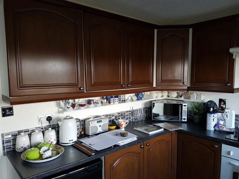 Park home kitchen refurbishment before